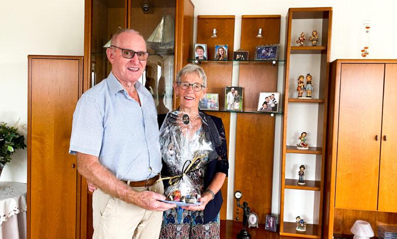 Photo of Echtpaar Bakker 60 jaar getrouwd