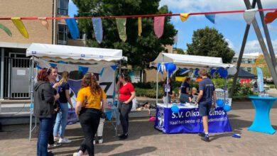 Photo of Studentenverenigingen werven eerstejaars tijdens infomarkt bij Windesheim