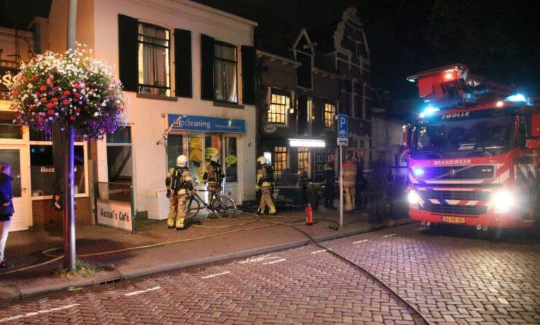 Photo of Brandweer blust brand bij wasserette aan de Jufferenwal