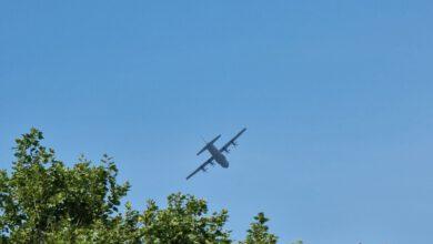 Photo of Laagvliegende Hercules toestellen over Zwolle voor 'Falcon Leap'